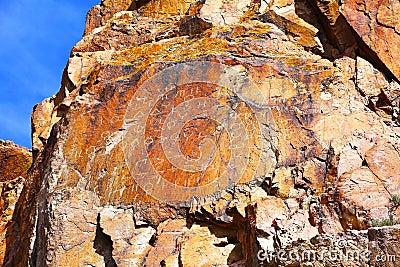 Petroglyphs in Tamgaly Tas, Kazakhstan