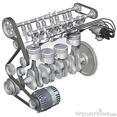 Petrol Engine Interior