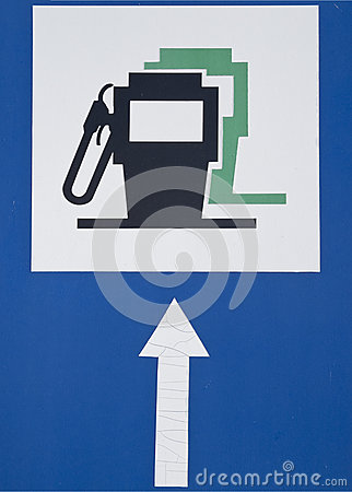 Petrol filling station sign