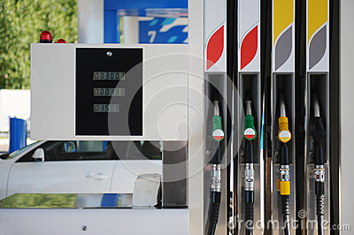 Petrol pump filling station