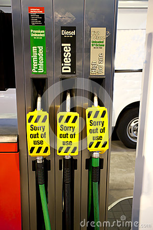 Petrol pumps out of use