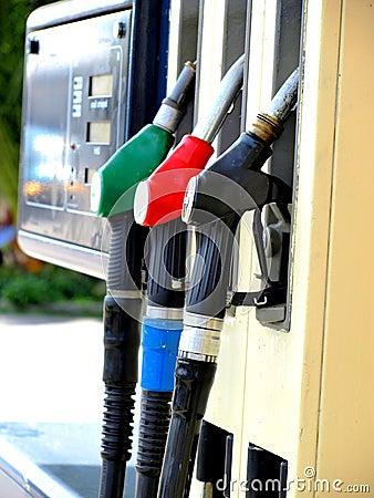 At the petrol station