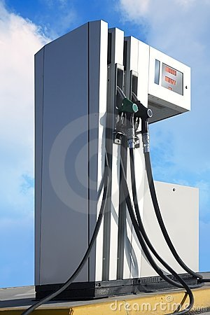 Petrol station pump outdoor blue sky