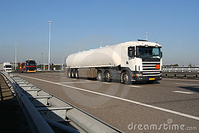 Petrol Truck on the Freeway