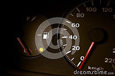 Petrol Warning Light On