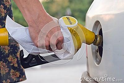 Petrol woman