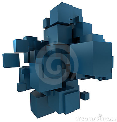 Petroleum Blue cubic background