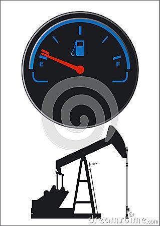 Petroleum fuel gauge