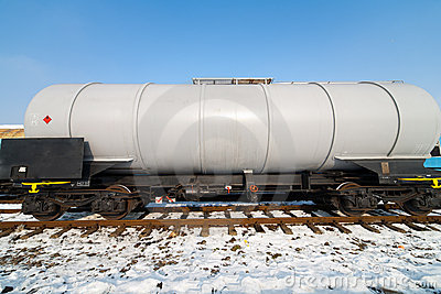 Petroleum tank on railway