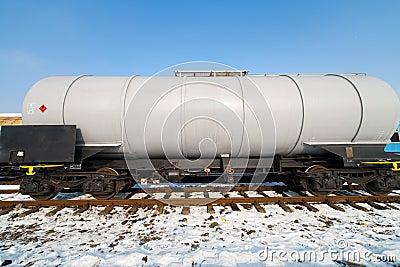 Petroleum tank on railway