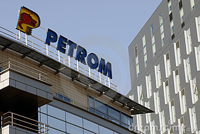Petrom oil company headquarters in Bucharest Editorial Photography