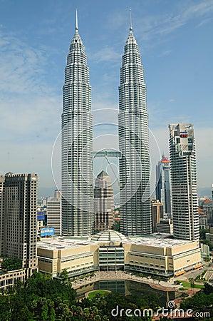 Petronas Towers in Kuala Lumpur, Malaysia Editorial Photo