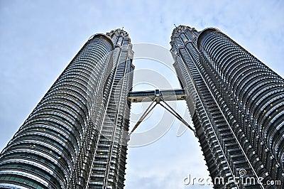 Petronas twin tower in kuala lumpur malaysia