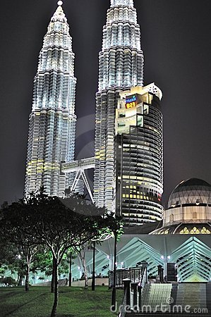 Petronas twin tower at night Editorial Photo