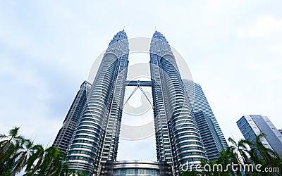 Petronas Twin Towers exterior design Editorial Photo