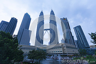 Petronas Twin Towers exterior design Editorial Photography