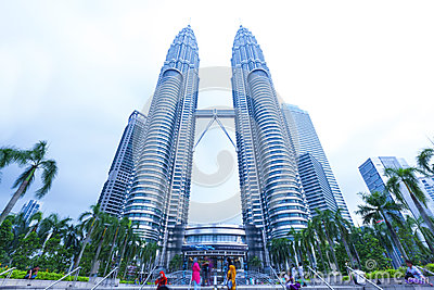 Petronas Twin Towers exterior design Editorial Stock Image