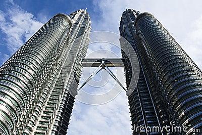 The Petronas Twin Towers Kuala Lumpur, Malaysia Editorial Stock Image