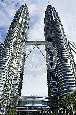 The Petronas Twin Towers Kuala Lumpur, Malaysia Editorial Photo