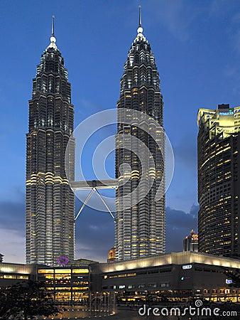Petronas Twin Towers - Kuala Lumpur - Malaysia Editorial Image