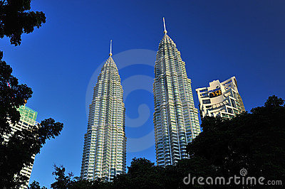 Petronas Twin Towers in Malaysia Editorial Stock Photo