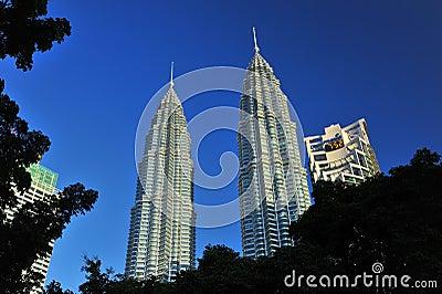 Petronas Twin Towers in Malaysia Editorial Stock Photo
