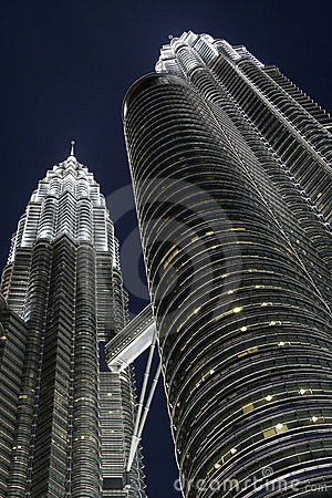 Petronas Twins Towers by night, KL, Malaysia
