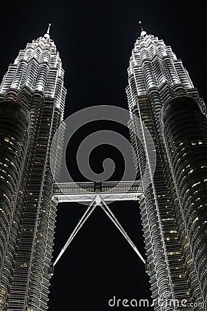 Petronas Twins Towers by night, KL, Malaysia