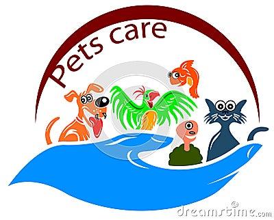 Pets care symbol