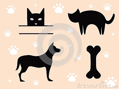 Pets Cat and Dog - Signs.