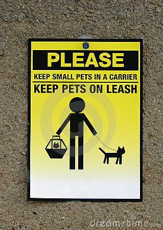 Pets caution icon
