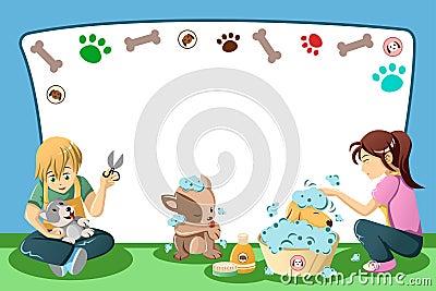 Pets grooming advertisement