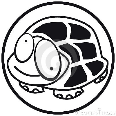 Pets icon turtle b&w