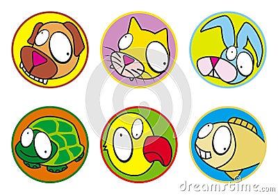 Pets icons color