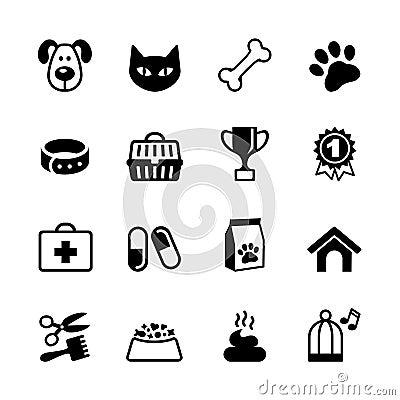 Free Pets Icons Set Stock Photography - 33019672