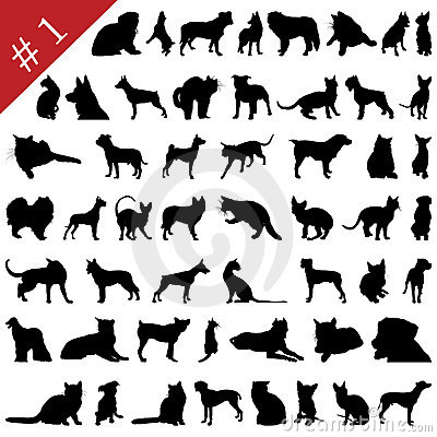 Free Pets Silhouettes  1 Stock Photos - 9771693