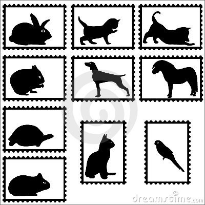 Pets on stamps