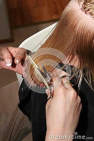 Pettinatura dei capelli bagnati