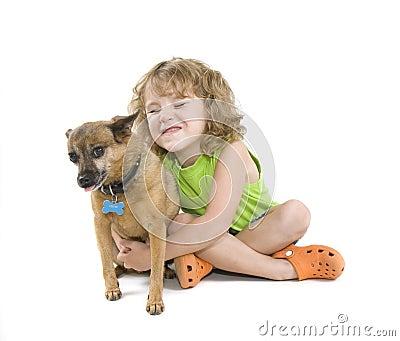 Petting собаки