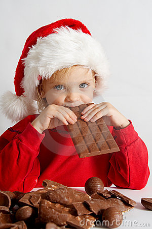 Peu de chocolat Santa