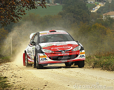 Peugeot 206 WRC rally car Editorial Photography