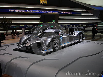 Peugeot 908 Hybrid Editorial Stock Photo