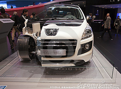Peugeot Hybrid 4 Editorial Photo