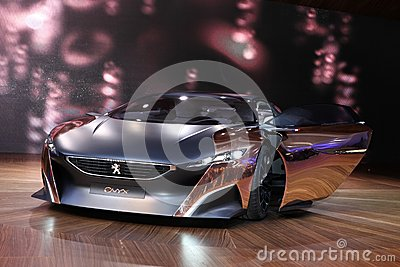 The Peugeot Onyx Concept Editorial Stock Image