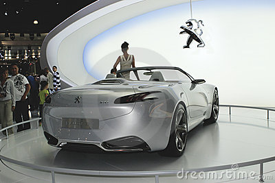 Peugeot sr1 concept back view Editorial Photo