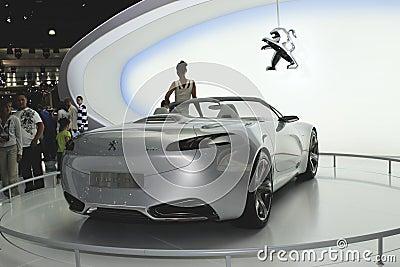 Peugeot sr1 concept back view Editorial Photo