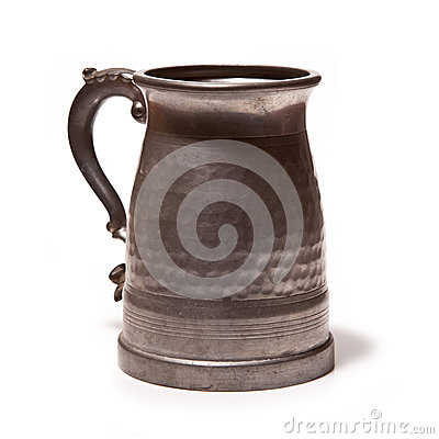 Free Pewter Beer Or Ale Tankard Stock Photography - 26647872