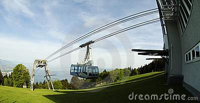 Pfänder Cable car Bregenz Editorial Photo
