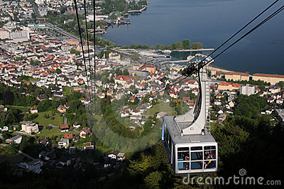 Pfänder Cable car Bregenz Editorial Photography