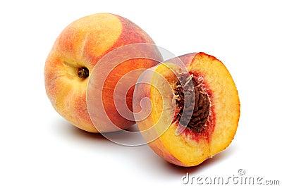 Pfirsich und halber Pfirsich